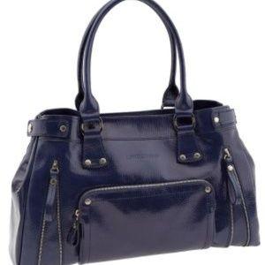 Longchamp patent leather rodeo purse